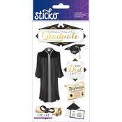 Congrats Grad Classic Sticko Stickers