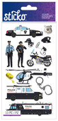 Police Officer Cars Classic Sticko Stickers