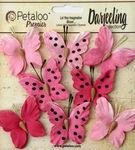 Teastained Pink Butterflies - Darjeeling - Petaloo