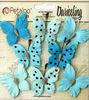 Teastained Teal Butterflies - Darjeeling - Petaloo