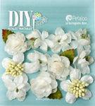 White Botanica Mini's Flowers - DIY Paintables - Petaloo