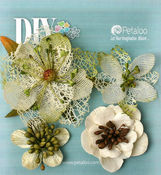 Ivory Mixed Textured Blossoms - DIY Paintables - Petaloo