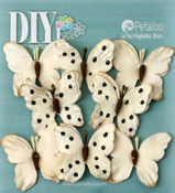 Teastained Cream Butterflies - DIY Paintables - Petaloo