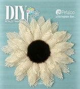 Medium Burlap Sunflower - DIY Paintables - Petaloo