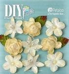 Ivory Mixed Textured Mini Blossoms - DIY Paintables - Petaloo