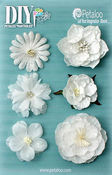 White Mixed Blooms - DIY Paintables - Petaloo