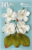 White Botanica Blooms - DIY Paintables - Petaloo