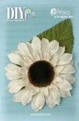 Ivory Burlap Giant Sunflower - DIY Paintables - Petaloo