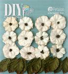Teastained Cream Paper Flowers - DIY Paintables - Petaloo