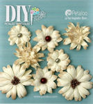 Teastained Cream Paper Flowers - DIY Paintables - Petaloo