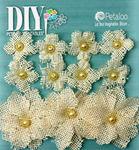 Ivory Burlap Flowers - DIY Paintables - Petaloo