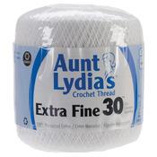 White - Aunt Lydia's Extra Fine Crochet Thread Size 30