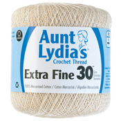 Natural - Aunt Lydia's Extra Fine Crochet Thread Size 30
