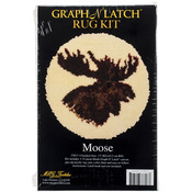 """Moose - Latch Hook Kit 18"""" Round"""