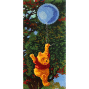 """Pooh And Balloon - Latch Hook Kit 17""""X36"""""""