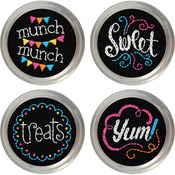 Set Of 4 - Sweets Jar Topper Embroidery Kit