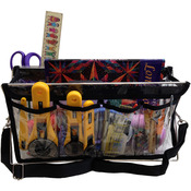 "Clear W/Black Trim - Deluxe Handy Caddy 14""X7""X5"""