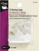 Clear - Silicone Sew-In Boning Caps 12/Pkg
