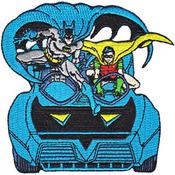 "DC Comics Patch - Batman & Robin In Batmobile 3.75""X3.75"""