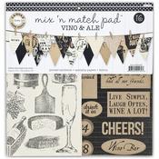 """Canvas Corp Mix & Match Pad 12""""-Vino & Ale"""