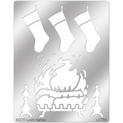 Stockings By The Fire - Dreamweaver Metal Stencil