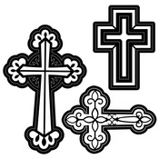 Crosses Embossing Essentials Dies - Darice