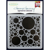 "Donna Downey Signature Stencils 8.5""X8.5""-Bubbles"