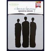 """Donna Downey Signature Stencils 8.5""""X8.5""""-Silhouette Trio"""