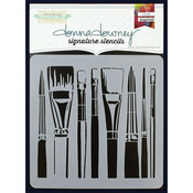 """Donna Downey Signature Stencils 8.5""""X8.5""""-Brushes"""