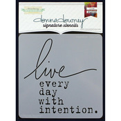 "Donna Downey Signature Stencils 8.5""X8.5""-Intention"