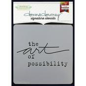 "Donna Downey Signature Stencils 8.5""X8.5""-Possibility"