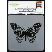 "Butterfly - Donna Downey Signature Stencils 8.5""X8.5"""