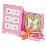 Sizzix Thinlits Dies 12/Pkg - Baby Dresser Card