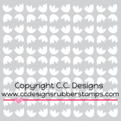 "Cracked Eggs - C.C. Designs Stencils 6""X6"""