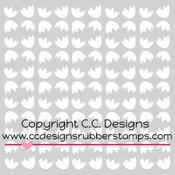 """Cracked Eggs - C.C. Designs Stencils 6""""X6"""""""