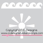 """Sun & Surf - C.C. Designs Stencils 6""""X6"""""""