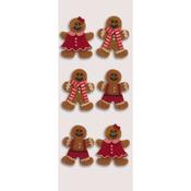Gingerbread Men - Little B Mini Stickers
