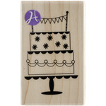 """Mounted Rubber Stamp 2""""X3.25""""-Celebrate Cake"""