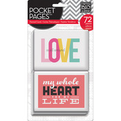Love Pocket Pages Themed Cards 3 x 4 - Me & My Big Ideas