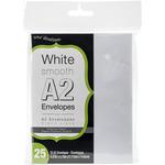 """White - Smooth A2 Envelopes (4.25""""X5.5"""") 25/Pkg"""