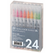 Zig Clean Color Real Brush Markers 24 Pack