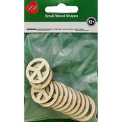 Assorted Wood Shapes - Peace Signs 12/Pkg