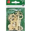 Keys 8/Pkg - Assorted Wood Shapes