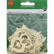 Assorted Wood Shapes - Owl Pairs 8/Pkg