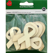 Ribbons 8/Pkg - Assorted Wood Shapes