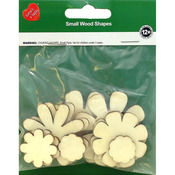 Flowers 10/Pkg - Assorted Wood Shapes