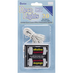 Battery Operated Teeny Bulbs Rice Light Set - 20  Bulbs - White Lights, White Co
