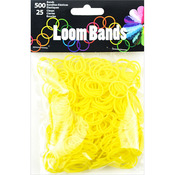Yellow - Loom Bands Value Pack 500/Pkg