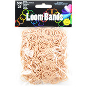 Loom Bands Value Pack 500/Pkg - Tan