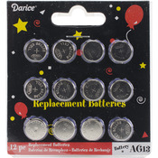 AG 13 Replacement Batteries For Tea Lights 12/Pkg-